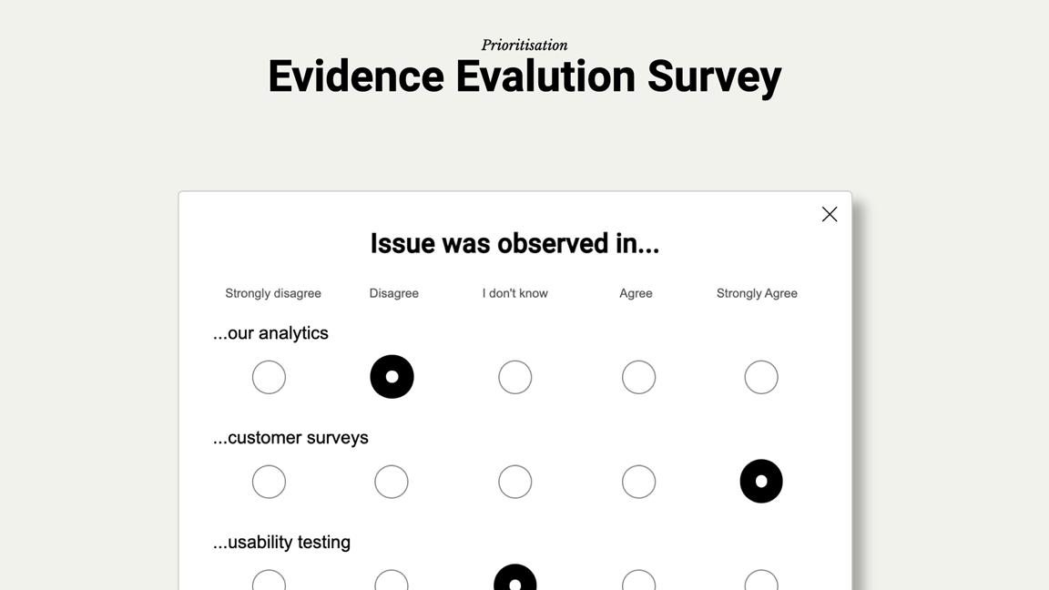 A survey example